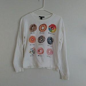 Forever 21 Doughnut Sweatshirt